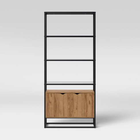 Ada Mixed Material Bookcase with Glass - Project 62™ - image 1 of 4