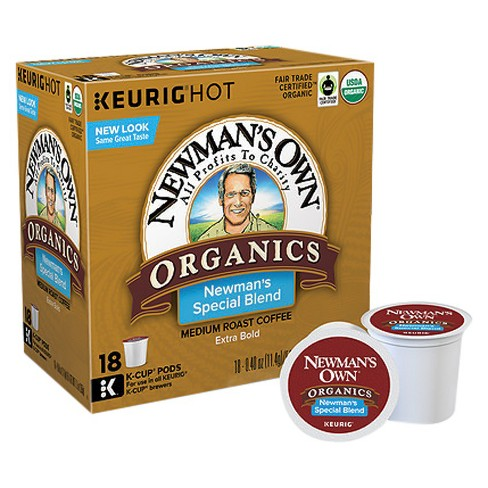 Newman's Own Organics Special Blend Medium Roast Coffee - Keurig K-Cup Pods - 18ct - image 1 of 3