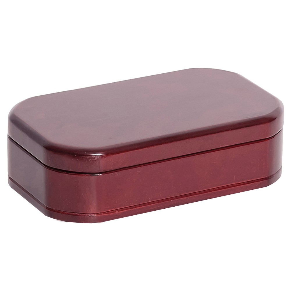 Image of Mele & Co. Morgan Wooden Jewelry Box-Cherry, Adult Unisex, Size: Small, Red