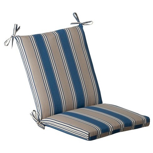 Chair Cushion Blue Beige Stripe