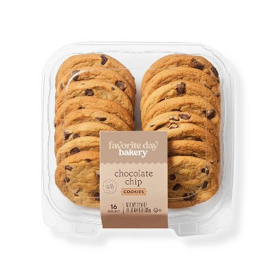 Chocolate Chip Cookies - 22.4oz/16ct - Favorite Day™