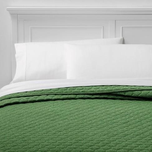 Full/Queen Jersey Quilt Green - Room Essentials™