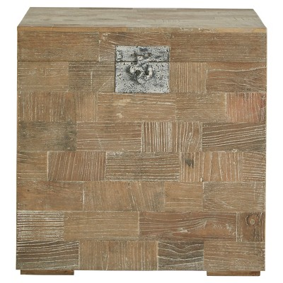 Rowena Reclaimed Wood Trunk Accent Table   Natural   Inspire Q : Target