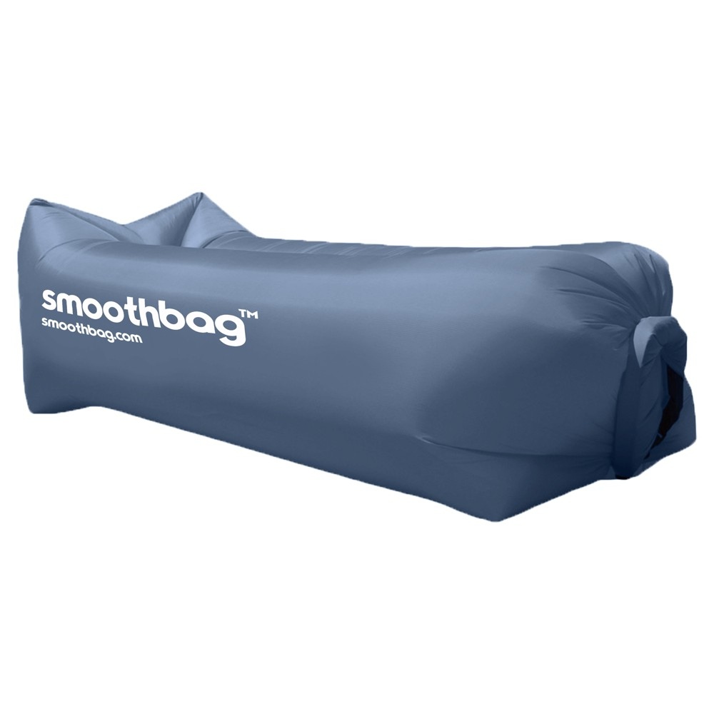 SmoothBag Portable Inflatable Pop-Up Lounging Sofa with Built-in Headrest - Navy (Blue)