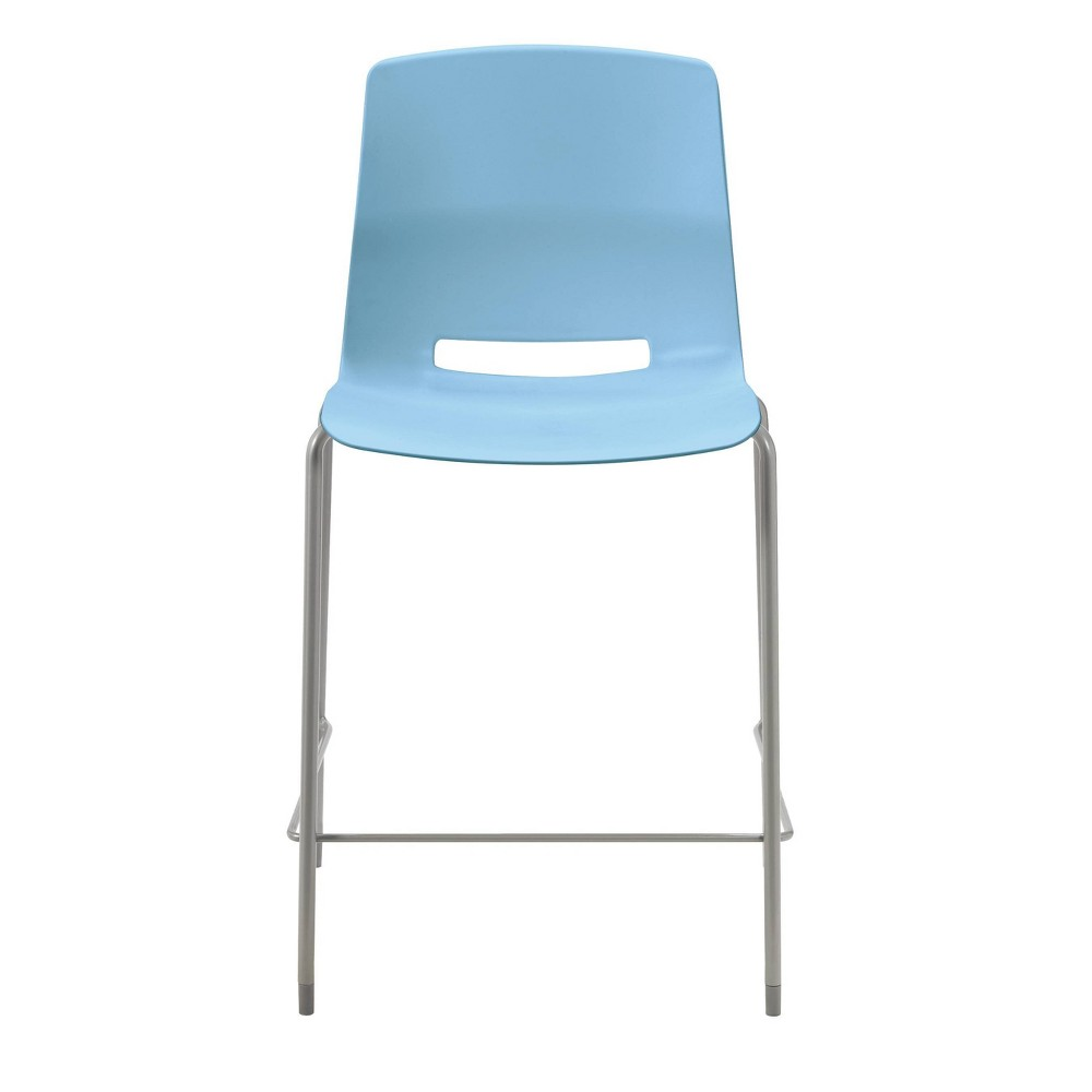 "Image of ""25"""" Lola Stacking Office Counter Stool Sky Blue - Olio Designs, Blue Blue"""