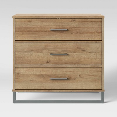 Mixed Material 3 Drawer Dresser Natural - Room Essentials™