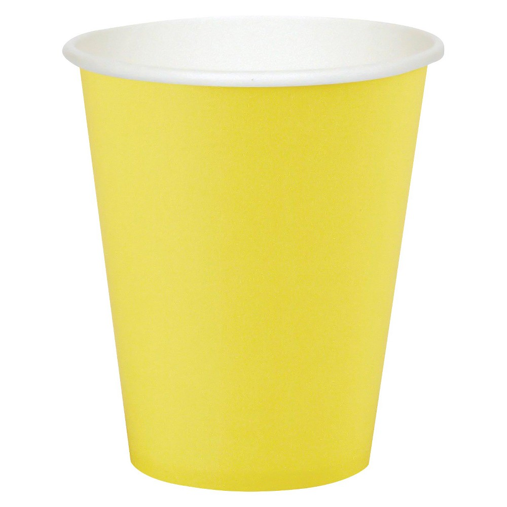 24ct Mimosa Yellow Disposable Cups Compare