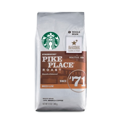 Starbucks Pike Place Roast Medium Roast Whole Bean Coffee - 12oz - image 1 of 3