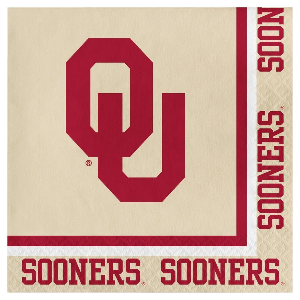 Image of 20ct University Of Oklahoma Sooners Napkins