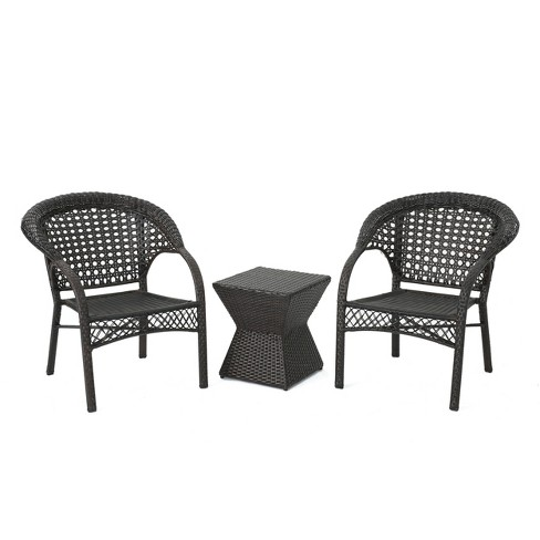 Madison 3pc Wicker Chat Set - Multibrown - Christopher Knight Home - image 1 of 4