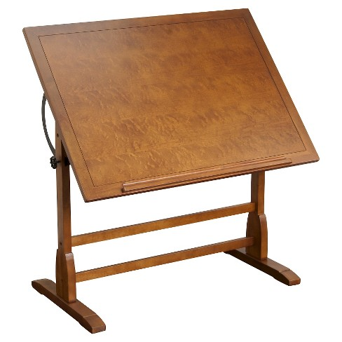42 Canvas Color Retro Wood Table Rustic Oak Studio Designs Target