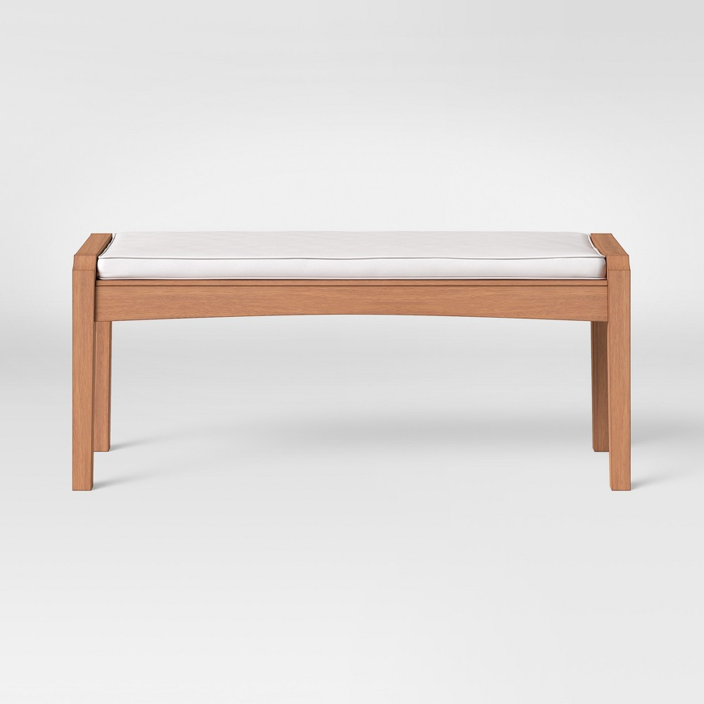 Chesapeake Wood Patio Dining Bench with Cushion - Threshold