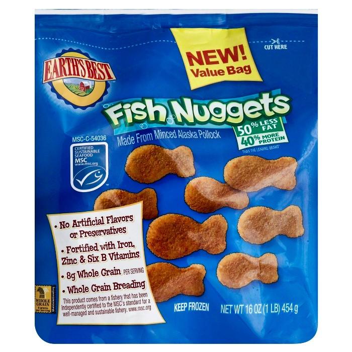 Earths Best Frozen Fish Nuggets - 16oz - image 1 of 1