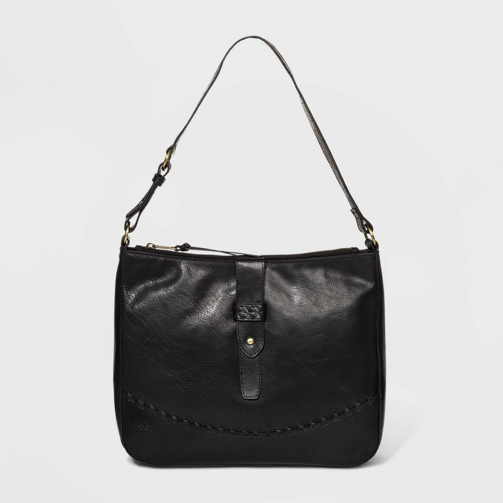 Image of Bolo Cornejo Bronco Hobo Handbag - Black, Women's, Size: Small