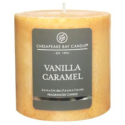 Pillar Candle Vanilla Caramel 3 x3  - Chesapeake Bay Candle®