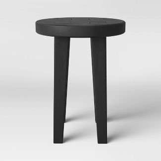 Woodland Short Carved Wood Table Black - Threshold™