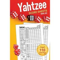Yahtzee Score Sheets - Large Print by  Yadi Wiz & Yahtzee Score Sheets (Paperback)