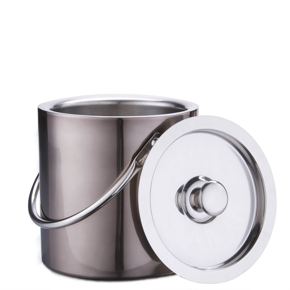 Image of Old Dutch 3qt Stainless Steel Gunmetal Ice Bucket