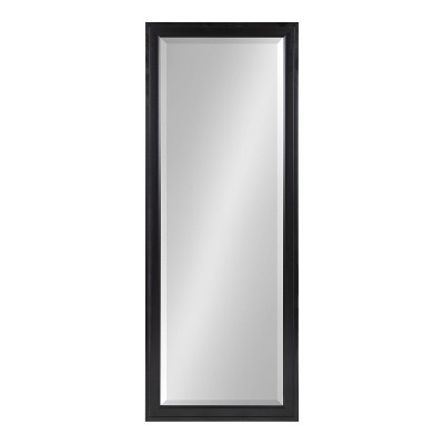 "19.5"" x 51.5"" Bosc Full Length Wall Mirror Black - DesignOvation"