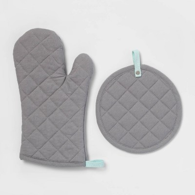 Kitchen Textile Set Gray - ? - Room Essentials™