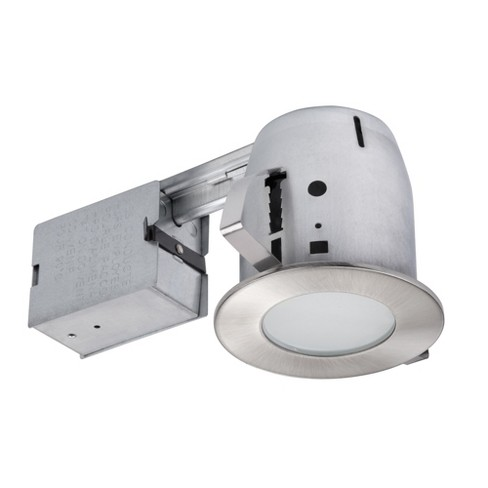 Globe Electric 90972 Single Light 10 Wide Led Recessed Lighting Trim And Housing Package