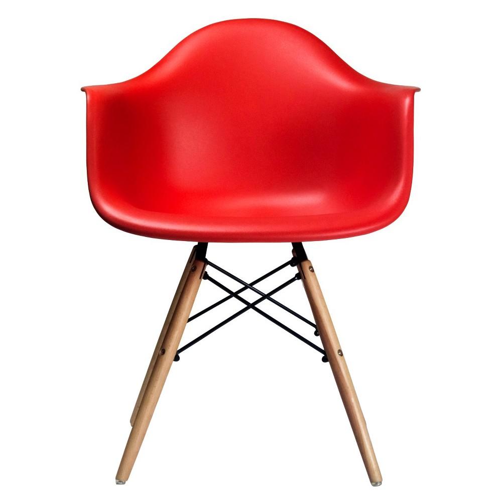 Dijon Mid Century Modern Dining Chair (Set of 2) - Red - Aeon