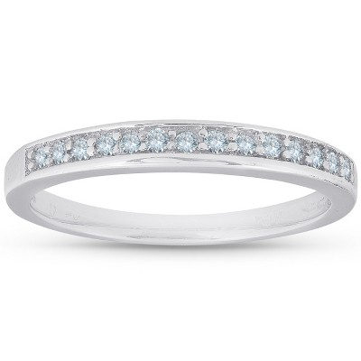 Pompeii3 1/5ct Diamond Wedding 14K White Gold Anniversary Ring