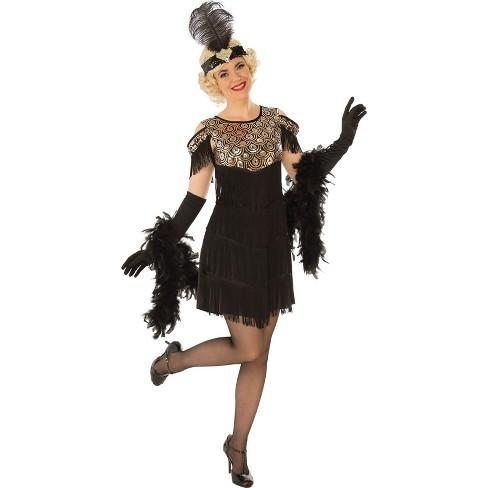 Women's Flapper Halloween Costume Gold - image 1 of 1