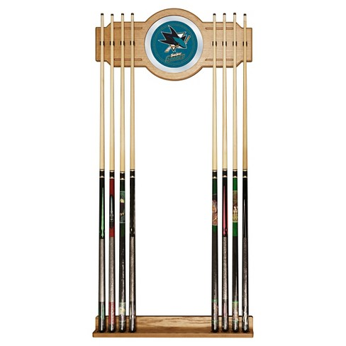 San Jose Sharks 2-Pc Wood and Mirror Wall Cue Rack - image 1 of 1
