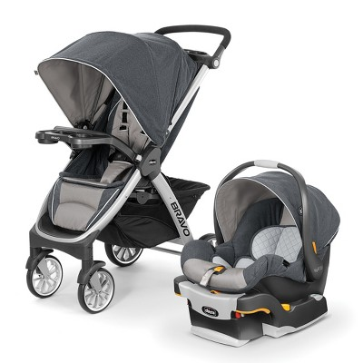 Chicco Bravo Trio Travel System - Gray
