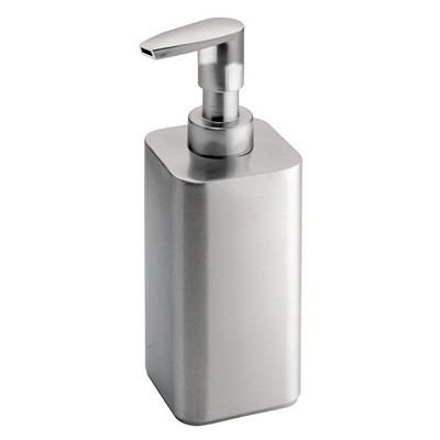 Gia Stainless Steel Soap Pump Dispenser Brushed 12oz - iDESIGN