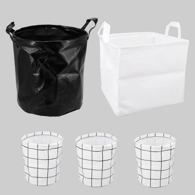 5ct Black & White Collapsible Decorative Bin Set - Bullseye's Playground™