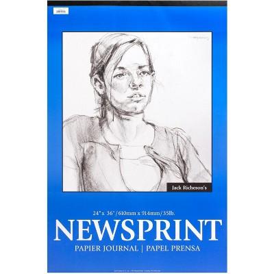 Jack Richeson Newsprint Pad, 24 x 36 Inches, 32 lb, 50 Sheets