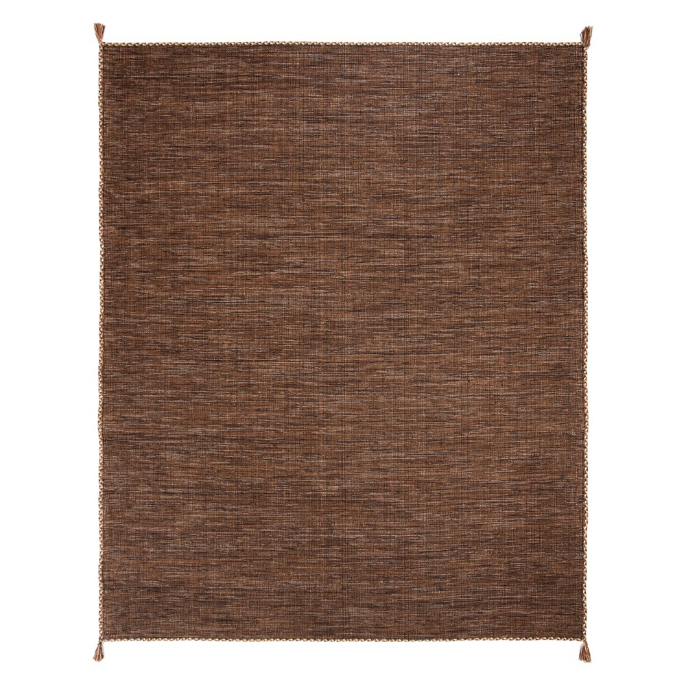 8'X10' Solid Woven Area Rug Brown/Black - Safavieh