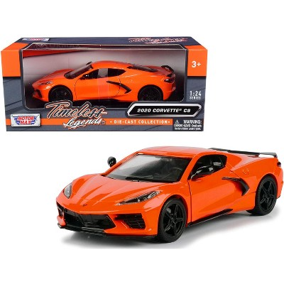 "2020 Chevrolet Corvette C8 Stingray Orange ""Timeless Legends"" 1/24 Diecast Model Car by Motormax"