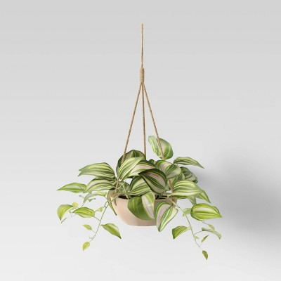 Hanging Planter with Wood Base - Opalhouse™
