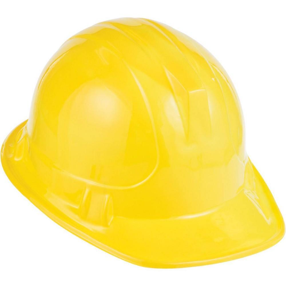 Image of 8ct Construction Hats Yellow, Kids Unisex