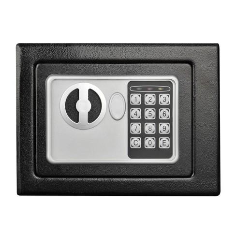 Digital Security Safe Box Black - Fleming Supply - image 1 of 3