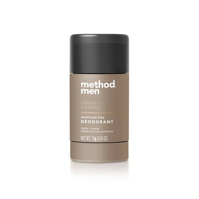 Method Men Aluminum Free Deodorant Cedar + Cypress - 2.65oz