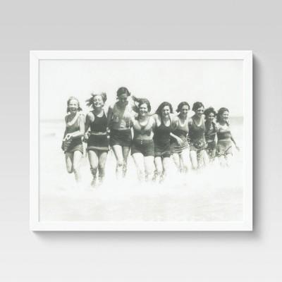 "16"" x 20"" Women Surfers Framed Under Glass - Threshold™"