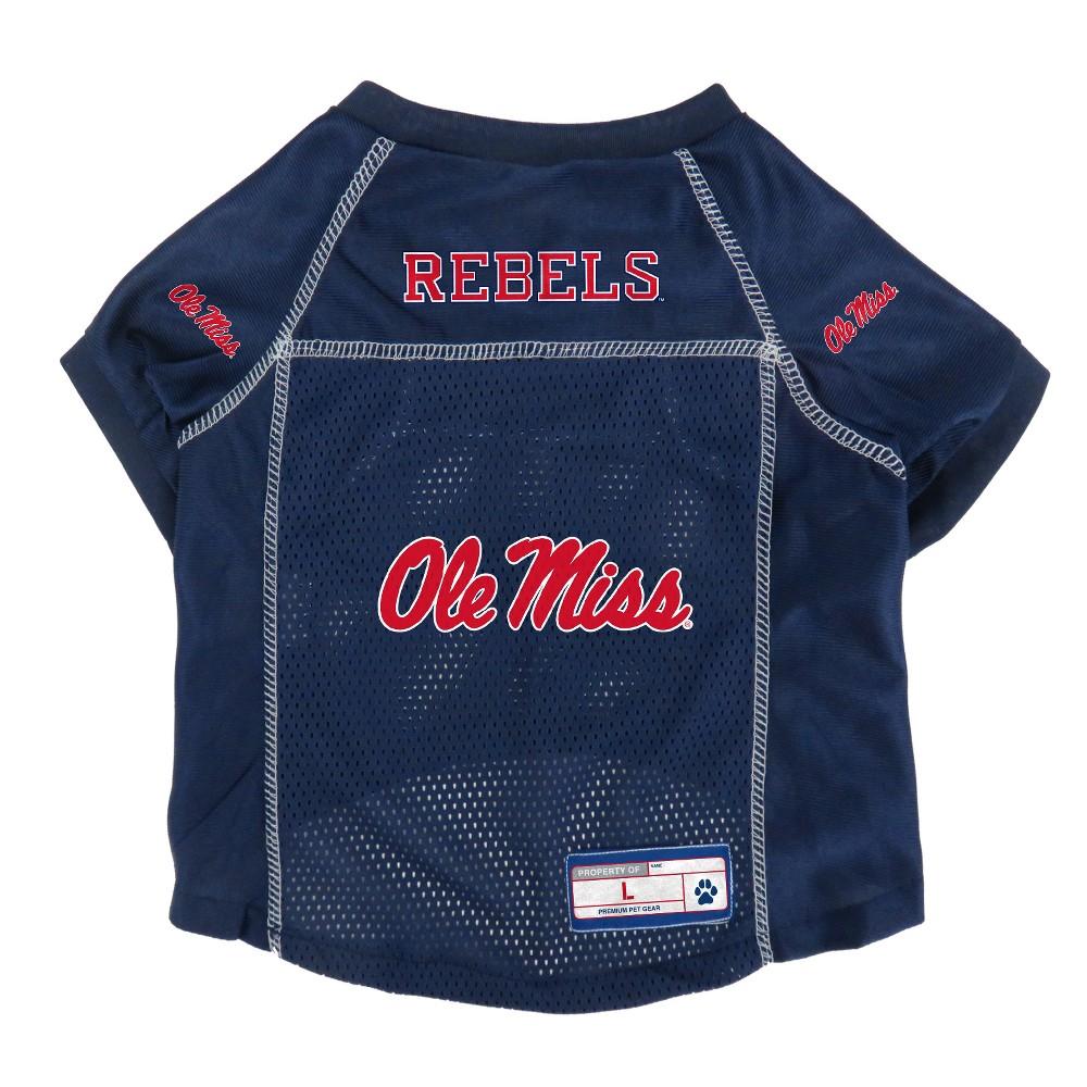 Ole Miss Rebels Little Earth Pet Football Jersey - S, Multicolored