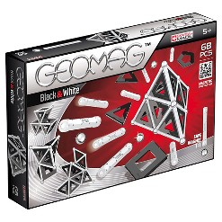 Geomag Black & White Construction Set with Assorted Panels - 68 Piece