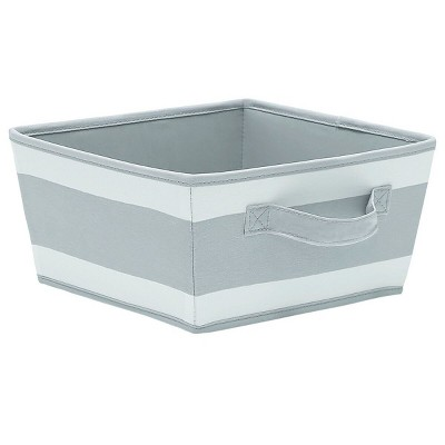 Striped Fabric Bin Small Gray - Pillowfort™