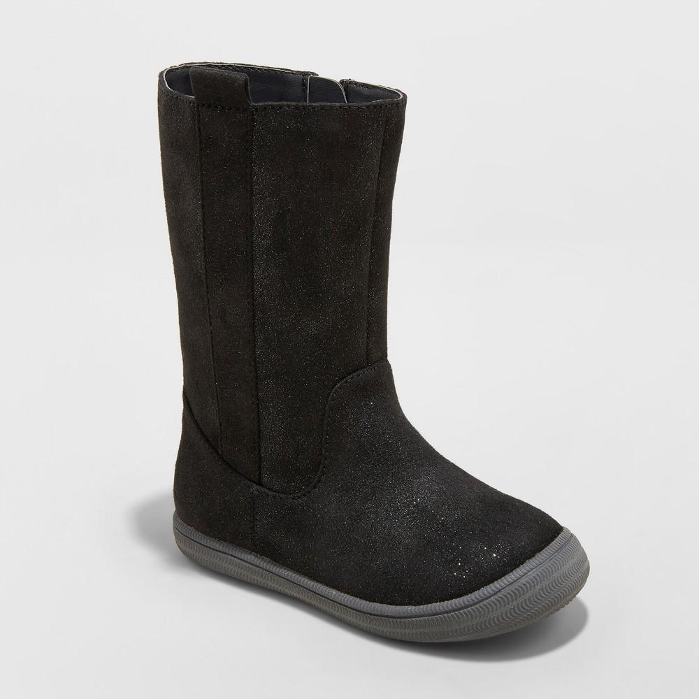 Toddler Girls' Orabel Tall Fashion Boots - Cat & Jack Black 5