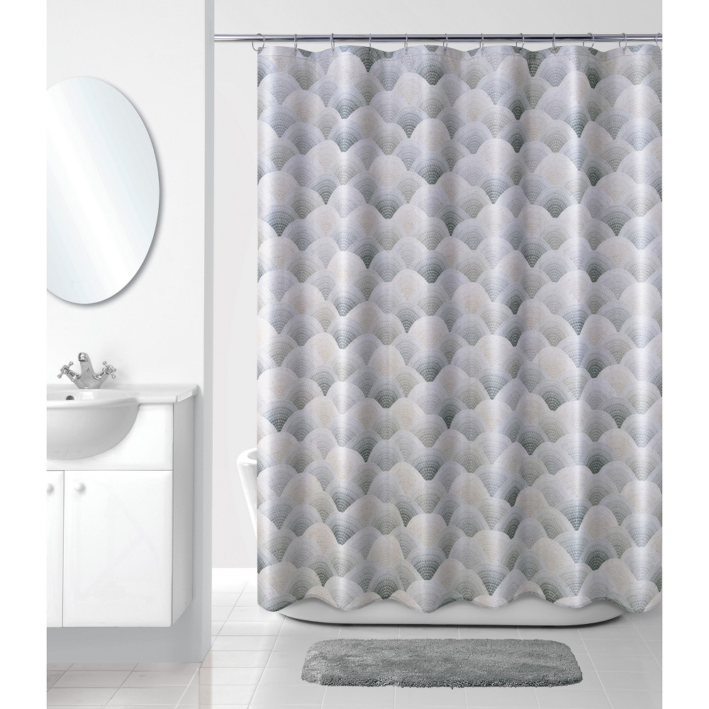 Image of J Wave Shower Curtain Gray - Allure Home Creation