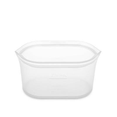 Zip Top 24oz Reusable 100% Platinum Silicone Container - Medium Dish - Clear