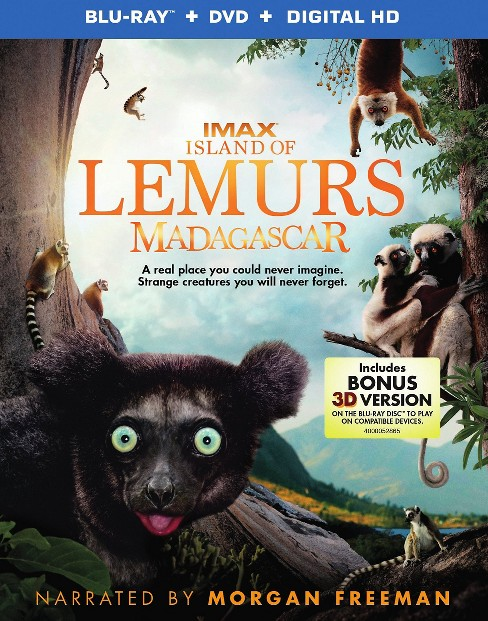 Island of Lemurs: Madagascar (2 Discs) (Includes Digital Copy) (UltraViolet) (3D/2D) (Blu-ray/DVD) - image 1 of 1