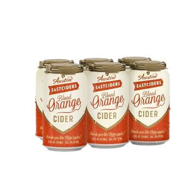 Austin Eastciders Blood Orange Cider - 6pk/12 fl oz Cans