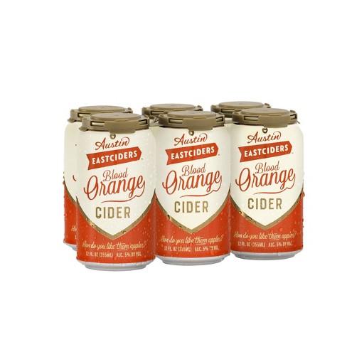 Austin Eastciders Blood Orange Cider - 6pk/12 fl oz Cans - image 1 of 3