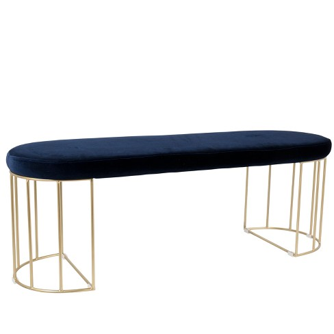 Lumisource Canary Contemporary Dining Entryway Bench Blue - image 1 of 4